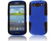 Black TPU Blue Net Hybrid Case Soft&Hard 2 Part Cover For Samsung Galaxy S3 SIII