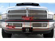 94-01 Dodge Pickup Bumper Stainless Tubular Grille Grill Insert