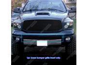 06 08 Dodge RAM Sport Bumper Black Billet Grille Grill Insert