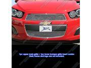 Fits 2012-2014 Chevy Sonic Stainless Steel Wire X Mesh Blitz Grille Grill Insert # CX6939S