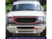 98-00 Ford Ranger Black Billet Grille Grill Insert