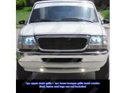 98-00 Ford Ranger Black Billet Grille Grill Combo Insert