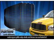 Fits 2006-2008 Dodge Ram 1500/2500/3500 Black Stainless Steel Billet Grille #D85318J
