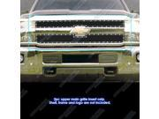 For 2015-2016 Chevy 2500HD/3500HD Stainless Steel Black Rivet Mesh Grille #N19-H0815LC