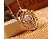 Harry Potter Time Turner 18K Gold Plated Hermione Granger Rotating Spin Necklace Pendant Christmas Gift Idea(Gold)