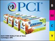 PCI DELL C1660 BMCY 4-PACK OF TONER CTGS - C1660BMCY-PCI
