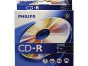 PHILIPS CR7D5BB10/17 700MB CD-Rs, 10-ct Peggable Box