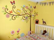 Demarkt Squirrel Tree and Owl Pattern Wall Sticker Wall Paper Mural Decal For Room Wall Decor