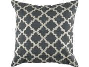 Rizzy Home Pillow Cover With Hidden Zipper In Gray And Ivory [Set of 2]