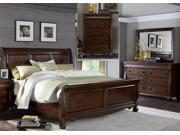 Liberty Furniture Sinclair Sleigh Bed & Dresser & Mirror & Chest in Rustic Russet Finish