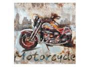 Crestview Motorcycle Metal Canvas Wall Art 9SIA9283T02502