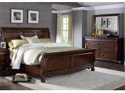 Liberty Furniture Sinclair Sleigh Bed & Dresser & Mirror in Rustic Russet Finish