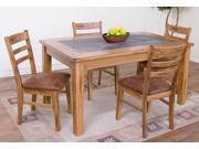 Sunny Designs Sedona Collection Five Piece Dining Set In Rustic Oak