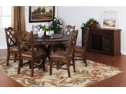 """Sunny Designs 60"""" Round Table with Lazy Susan In Antique Charcoal"""