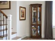 Liberty Furniture Hearthstone 2 Piece Curio in Rustic Oak Finish