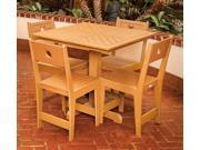 Eagle One 5 Piece Cafe Square Table Dining Set In Cedar
