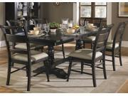 Liberty Furniture Whitney 7 Piece Trestle Table Set in Black Cherry Finish