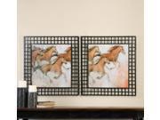 Uttermost Horse Fresco Framed Art Set Of 2 9SIA3CD2YN7722