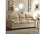 Homelegance Talon Sofa in Taupe Leather