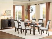 Homelegance Piqua Dining Table With 18In Extension Leaf In Grey