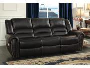 Homelegance Center Hill Power Reclining Sofa In Black Bonded Leather Match