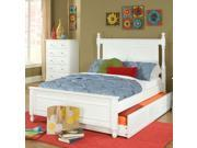 Homelegance Morelle Captain's Bed w/ Trundle in White - Twin