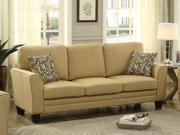 Homelegance Adair Sofa With 2 Pillows In Yellow Fabric
