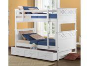 Homelegance Sanibel Twin over Twin Bunk Bed in White - Without Trundle/Storage U