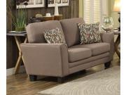 Homelegance Adair Love Seat With 2 Pillows In Grey Fabric