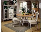 Hillsdale Wilshire 5 Piece Round Dining Room Set w/ Side Cha