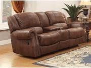 Homelegance Levasy Recliner Glider Ls With Console In Brown Bomber Jacket Microf