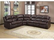 Homelegance Cranley Three Piece Sofa Set In Dark Brown Bonded Leather Match