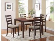Homelegance Prospect 5 Piece Pack Dinette In Burnished Cherry / Neutral Fabric