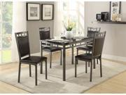 Homelegance Olney 5 Piece Pack Dinette With Faux Marble Top In Faux Marble Metal