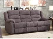 Homelegance Greenville Reclining Sofa In Blue Grey Velvet