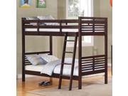Homelegance Paula II Twin over Twin Bunk Bed in Dark Cherry