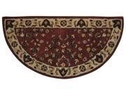 UniFlame Red with Beige Hand Tufted 100% Wool Rug Hand Tufted 44 Length x 22 Width Red Beige Wool