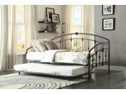 Homelegance Ruby Metal Daybed With Trundle In Rustic