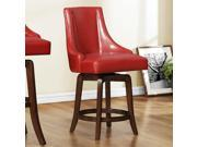 Homelegance Annabelle Swivel Counter Height Chair in Red [Set of 2]