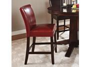 Steve Silver Hartford Counter Chair in Red [Set of 2]