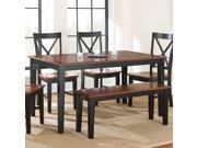Steve Silver Kingston Dining Table in Oak & Black