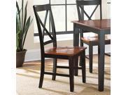 Steve Silver Kingston Side Chair in Oak & Black [Set of 2]