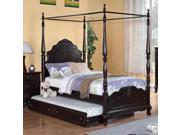 Homelegance Cinderella Canopy Poster Bed in Cherry - Twin without Trundle