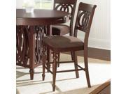 Steve Silver Dolly Counter Chair in Medium Brown Cherry [Set of 2]