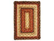 Homespice Russet Braided Rectangle Placemat - 13 inch x 19 inch [Set of 2] 9SIA3CD3FD6267