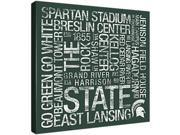 Replay Photos Gallery Wrapped Canvas of Michigan State Subway Art