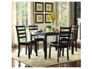 Homelegance Trask 5 Piece Rectangular Dining Room Set in Black