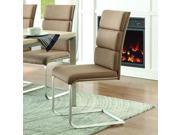 Homelegance Moriarty Side Chair in Brown Fabric [Set of 2]
