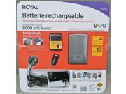 Royal Rechargeable 8000mAh Battery for iPod, iPhone, Android and Windows Smartphones