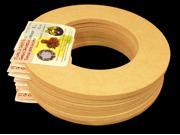 "6 Pack, Biodegradable Floral Craft Ring, 6"", Ez Glueable Wreath Form, for Photo Frame, Candle Ring Etc"